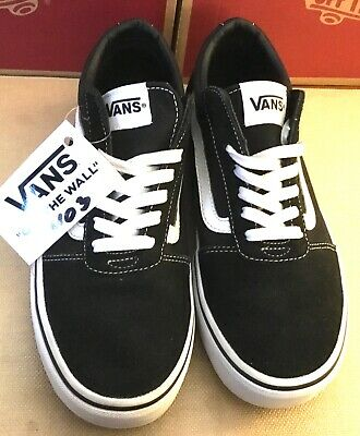 Details about Men's Vans Old Skool Fashion Sneaker Classic Black White Canvas Suede All SZ NEW