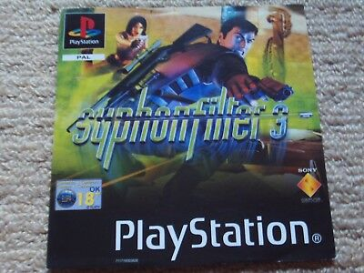 Syphon Filter 3  – Sony Ps1 Front Art Inlay