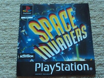 Space Invaders  – Sony Ps1 Front Art Inlay