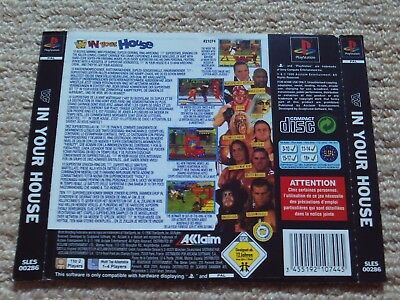 WWF IN YOUR HOUSE  – Sony PS1 Rear art inlay