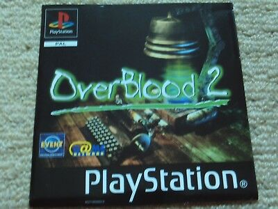 Overblood 2  – Sony Ps1 Front Art Inlay