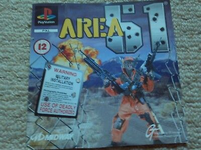 Area 51  – Sony Ps1 Front Art Inlay
