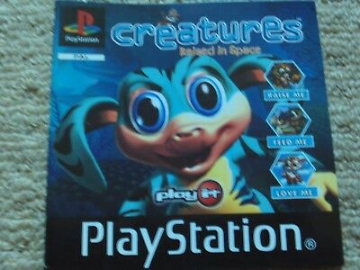 CREATURES : RAISED IN SPACE   – Sony PS1 Instruction Manual