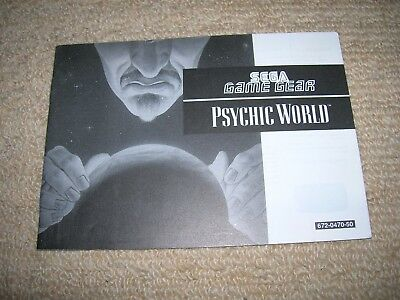PSYCHIC WORLD - Rare  Sega Game Gear Instruction Booklet