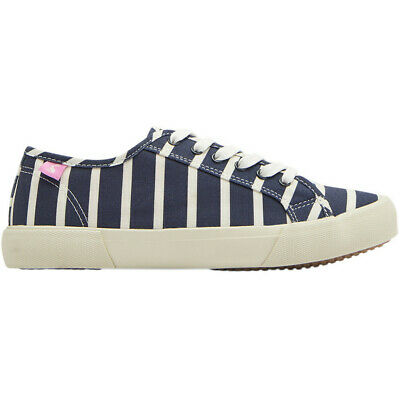 Joules Womens Coast Lace Up Easy Wear Casual Canvas Pumps