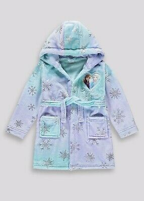 Girls Disney Frozen Fleece Dressing Gown Age 2-3 Years Old