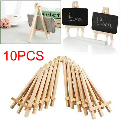10PCS Small Wooden Easel Mini Artist Table Royal Display Photo Card Stand Decor