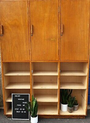 ☆ Fab LARGE School Wooden Lockers/Bookcase/Cabinet - FREE DELIVERY ☆