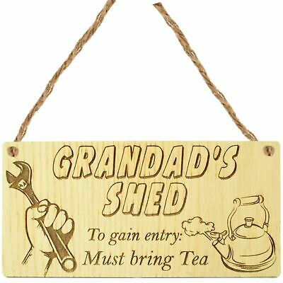- Plaque // Sign // Gift TEA Father Dad Shed Tools 217 Grandads Summer House