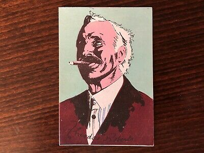 THEODORE ROBERTS Rare Trading Card Silent Film Actor Caricature 1920