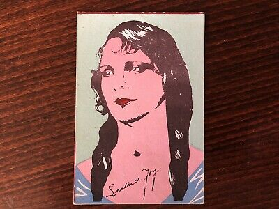 LEATRICE JOY Rare Trading Card Silent Film Actress Caricature 1920