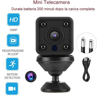 Mini WiFi Telecamera Spia Micro Wireless HD Nascosta Spy IP Camera porta USB