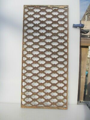 """Victorian Iron Window Door Grille Grate Art Nouveau Flowers Old French 14""""x31.5"""""""