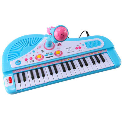 Kids Electronic Keyboard 37 Key Piano Musical Toy + Microphone For Child Gift HC