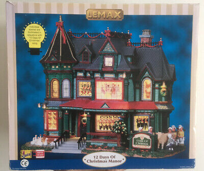 LEMAX VILLAGE COLLECTION 12 Days Of Christmas Manor Musical Boxed 2009