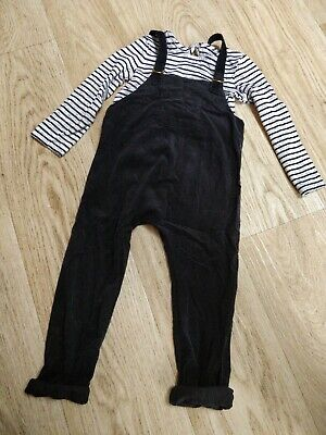 Girls Dungarees & Top.  Size 3-4 Years. Next