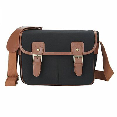 Waterproof Vintage Canvas Camera Bag for DSLR Camera & Lens Canon 5DII 7D Should