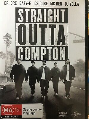 STRAIGHT OUTTA COMPTON DVD 2015 N.W.A NWA Dr Dre Eazy-E Ice Cube