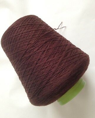 100 % Shetland Wool 2 Ply Cone- 534 Grms  inc cone - Dark Brown