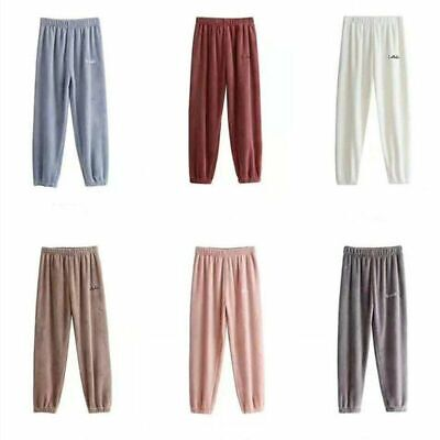 Soft Pajama Sleepwear Pants Winter Girls Home Clothing Polyester Elastic Waist