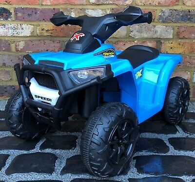 Kids My First Mini 6v Electric Battery ride on Quad Bike - Blue