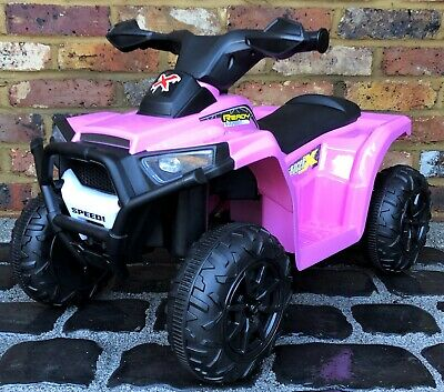 Kids My First Mini 6v Electric Battery ride on Quad Bike - Pink