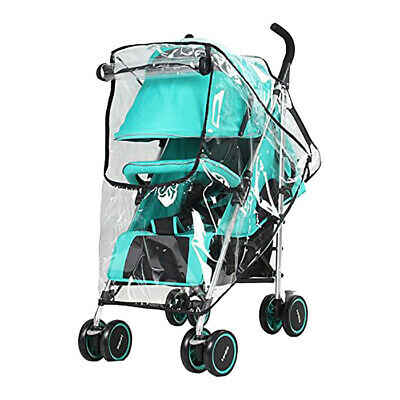 Transparent Baby Stroller Rain Cover Waterproof Wind Dust Shield Pushchair Cover