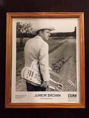 "JUNIOR BROWN Signed Autographed 8"" X 10""  Original Publicity Photo."