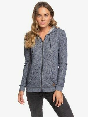ROXY Womens TrippinZip Up HoodieSalmon Heather