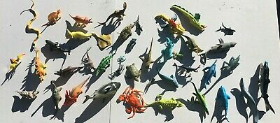 37 Huge Lot Dinosaur Sea and Land creatures and miscellaneous others 2-6""