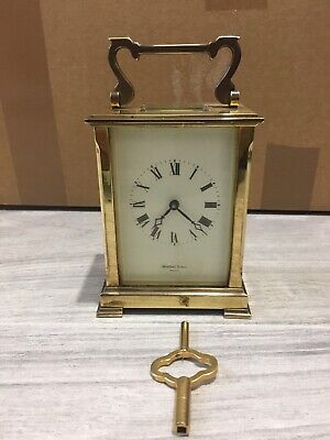 A Shortland Bowen England Carriage Clock With Working Order.