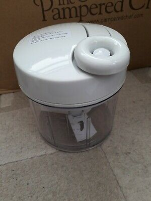 Pampered Chef Manual Food Processor, New In Box With Instructions. 2581-03