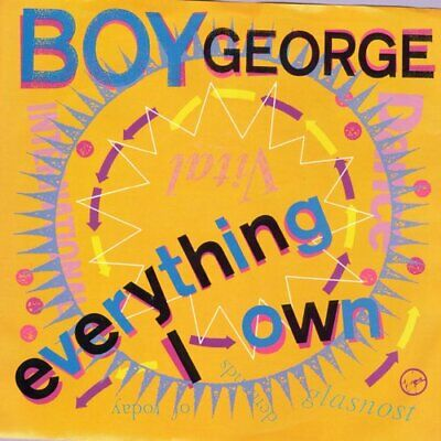 Boy George - Everything I Own Vinyl 45 rpm record PS Free Shipping