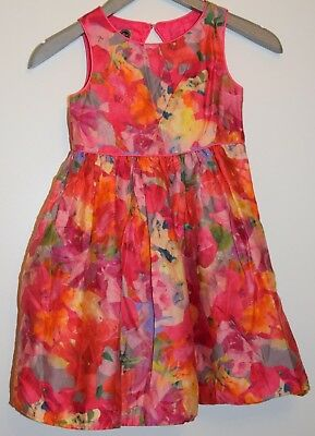 Ted Baker Girls Age 5 Years Floral Print Dress VGC