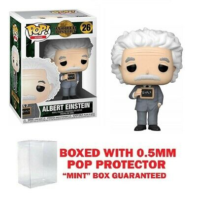 Funko Pop Icons: Albert Einstein #26 Vynl w/0.5mm case Mint Condition
