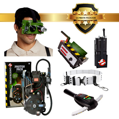 Ghostbusters Proton Pack PKE Trap Goggles Belt Walkie Talkie Spirit Halloween