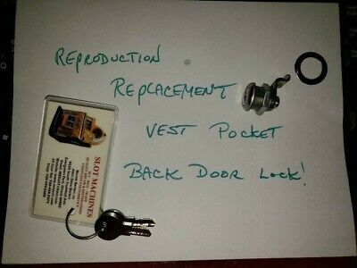 Mills Reproduction Vest Pocket Lock  Antiq Slot Machine Lock  #Vp001