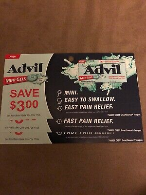 3 coupons x Save $3 On Advil Mini Gels (30s 70s 110s)