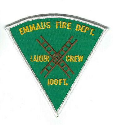 Emmaus (Lehigh Co.) PA Pennsylvania Fire Dept. LADDER CREW 100ft. patch NEW!