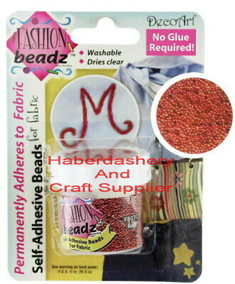 Decoart Liquid Beads Fabric Paint 29.6Ml #03 Red
