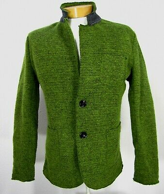 Wilfed Made in Italy Jacket Size XXL Wool blend Long Sleeve Green 089