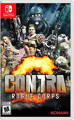 💀 CONTRA ROGUE CORPS 💥 (Nintendo Switch 2019) BRAND NEW SEALED 🔥 U.S RELEASE!