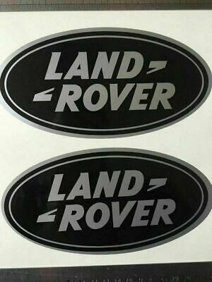 2 x STICKERS for LAND ROVER OVAL DEFENDER DISCOVERY BADGE ViNYL DECAL 7''/3.5''
