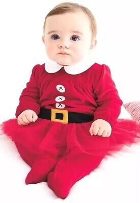 Next Baby Girls Christmas Santa Tutu Outfit Age Up To 1 Month Bnwt