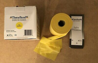 Therabands Exercise Bands 50 Yards / 45,7 Meters Yellow Resistance