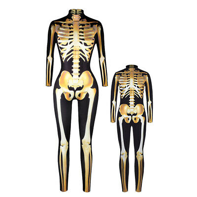 Adults Womens Mens Childrens Kids Girls Boys Unisex Skeleton One-Piece Costume
