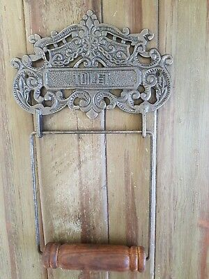 Vintage Style Antique Cast Iron Toilet Loo Roll holder New