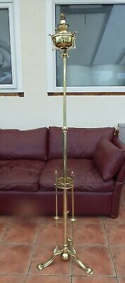 Victorian Ornate Brass Telescopic Standard Lamp   Free Shipping To England