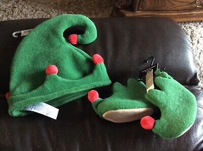 Next Baby Boys/girls Christmas Elf Hat And Booties Age 0-3 Months Bnwt