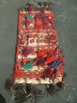 AUTHENTIC - Handwoven Camel Saddlebag - Persian Middle Eastern Art wall hanging